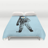 Goldfish Astronaut Duvet Cover by Matt Irving