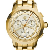 Women's Tory Burch 'Tory' Chronograph Bracelet Watch, 37mm - Gold