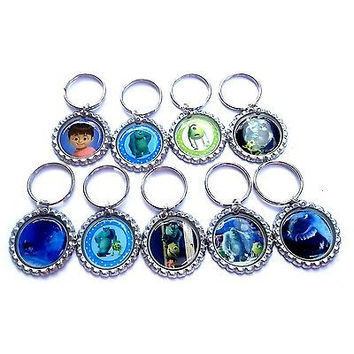 Monsters Inc Party Favor Key chains - SET OF 10
