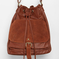 Cooperative Suede Pocket Bucket Bag