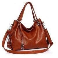 Womens Leathery Key Hobo Shoulder Handbag
