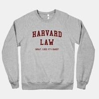 Harvard Law (crew neck)