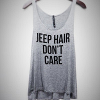 jeep hair graphic tank