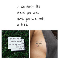 Uproot - Temporary Tattoo (Set of 2)