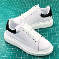 Alexander Mcqueen Sole White Black Sneakers Sale