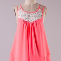 Neon Coral Tank Top