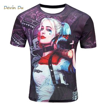 3D Print Suicide squad T shirt Fashion top tees