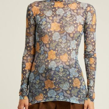 Floral-print roll-neck top | Acne Studios | MATCHESFASHION.COM US
