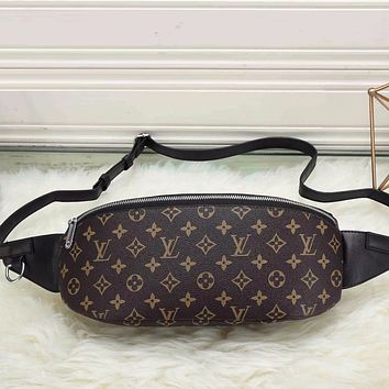 Louis Vuitton Men Leather Purse Waist Bag Single-Shoulder Bag Crossbody