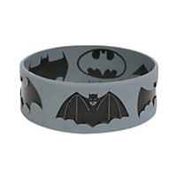 DC Comics Batman Logos Rubber Bracelet