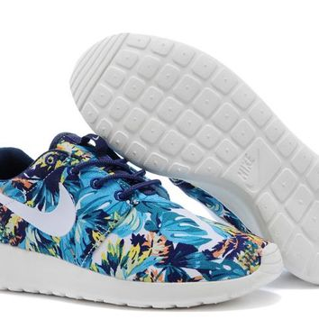 Nike Roshe Run Sport Casual Shoes Sneakers Blue Size 36-44