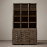 Printmaker's Open Sideboard & Hutch