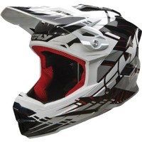 Fly Racing Default Adult Full Face Bike Sports BMX Helmet - Black/White / Large