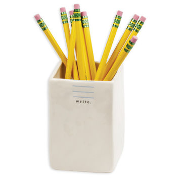 Ceramic Pen and Pencil Cup Holder