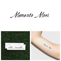 Memento Mori - Temporary Tattoo (Set of 2)