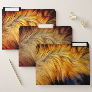 Cool Trendy Brown Horse fur texture design File Folder