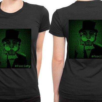 MDIG1GW Mr Robot Hashtag Fsociety 2 Sided Womens T Shirt