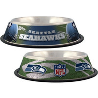 Seattle Seahawks Stainless Dog Bowl