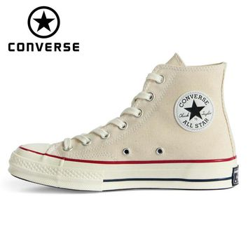 CHUCK 70 Original Converse 1970S all star shoes Beige high men and women's unisex sneakers Skateboarding Shoes 162062C