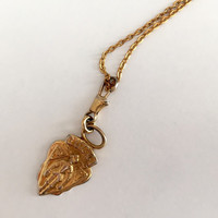 Vintage Gucci Gold Charm Repurposed Necklace