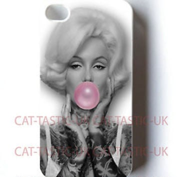 Marilyn Monroe case Cover iPhone 4 4s 5 5s 5C bubble gum/VTG/Vintage/pink/tattoo
