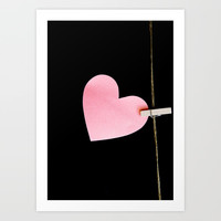 Heart of paper Art Print by vanessagf
