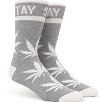 DGK Stay Smokin' Crew Socks - Mens Socks - Black/Dark Walnut - One