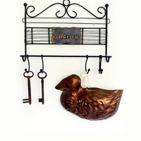Vintage Copper Duck Mould Wall Hanging, Big Copper Baking Mold,  Vintage Rustic Kitchen, Decorative Copper Duck Mould