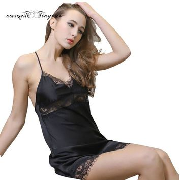 Plus size women lingerie suspenders lace deep v neck exotic night underwear sleep lounge wear sleeveless babydoll