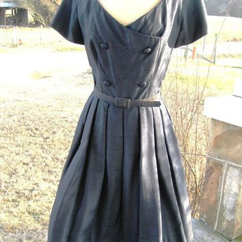 Fifties Suzy Perette silk shantung dress by posypower on Etsy