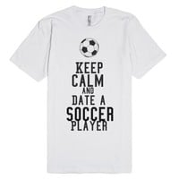 soccer player-Unisex White T-Shirt