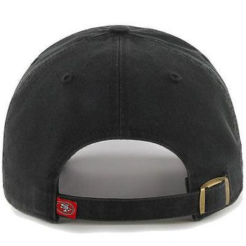 San Francisco 49ers 47 Brand NFL Strapback Adjustable Cap Black Dad Hat Clean Up