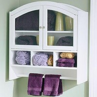 Arch Bathroom Wall Cabinet, White  - Bathroom Furniture - Cost Plus World Market