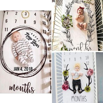 Fancy Baby Bed Sheet born Photography Props Monthly Growth Background Blankets Lovely Sweet Drop Ship