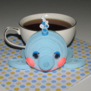 Coasters for drinks Cute blue whale Stand for the cup Cup Stands Cup pad Custom coasters Stand cup Cup coaster Quilling art