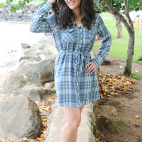 Mad for Plaid Button Down Dress - Three Left!
