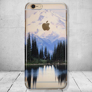 iPhone 6 Case Mountains Clear iPhone 7 Case Clear iPhone 6 Plus Case iPhone SE Case iPhone 6S Case Christmas Gift for Her Gift for Him //110