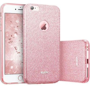 Iphone 6 Plus Case Iphone 6s Plus Case Esr Luxury Glitter Sparkle Crystal Bling Designer Case [slim Fit Hard Back Cover] Shining Fashion Style For Apple Iphone 6 Plus/6s Plus 5.5' (rose Gold)