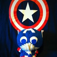Captain America Knit Plush