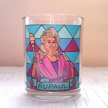 RuPaul Glass Votive Candle // Gay Altar Candle