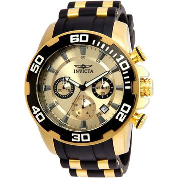 Invicta Men's 22346 Pro Diver Quartz Chronograph Gold Dial Watch