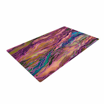 "Ebi Emporium ""Marble Idea! - Light Jewel Tone"" Lavender Pink Woven Area Rug"
