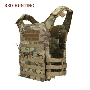 Tactical Assault JPC Vest MOLLE Light Weight Plate Carrier Training Hunting Vest