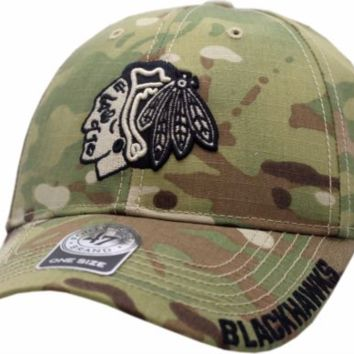 Chicago Blackhawks Myers Camouflage Adjustable Hat By '47 Brand