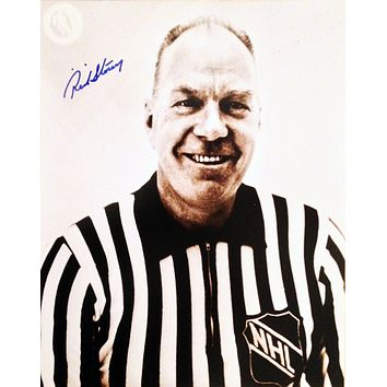 RED STOREY AUTOGRAPHED 8X10 PHOTOGRAPH - NHL REFEREE