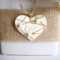 Rustic/ Country/ Burlap Wedding Favor Tag. Bridal Shower Tag. Love Tag. Set of 10.Made-to-Order