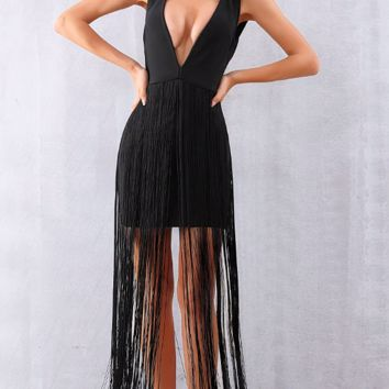 Aeryn Fringe Bandage Dress