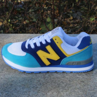Women Men Casual Running NEW BALANCE Sport Shoes Sneakers Month white