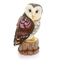 Jim Shore MINI OWL FIGURINE Polyresin Heartwood Creek 4055064