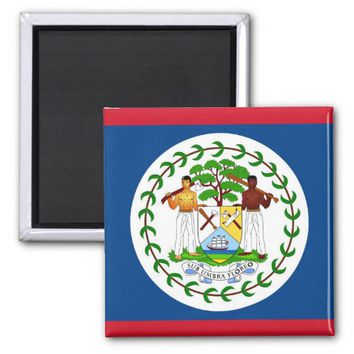 Magnet with Flag of Belize